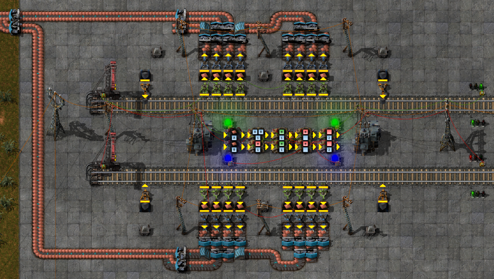 Dual track station switching system - Factorio Forums